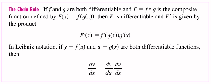 2.4 The Chain Rule If f and g are both differentiable and F is the ...